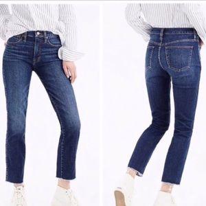 J.CREW Vintage Straight raw hem jeans